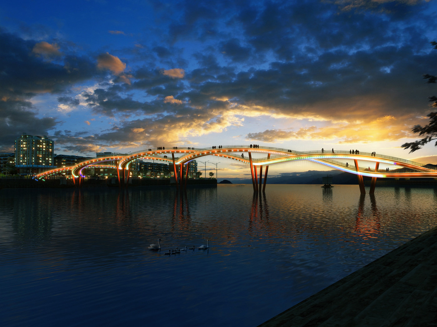 Xinjin County Landscape Bridge